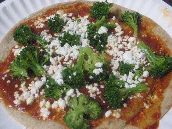 Goat Cheese and Broccoli Pizza