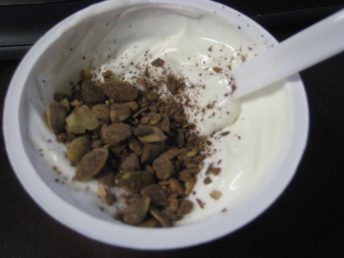 Greek Yogurt with Dark Cocoa Pumpkorn