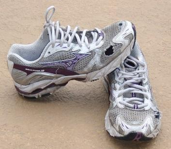 My Beat Up Shoes After Completing My First Half Marathon
