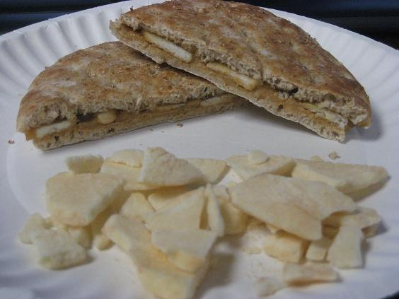 Apple and Peanut Butter Sammie