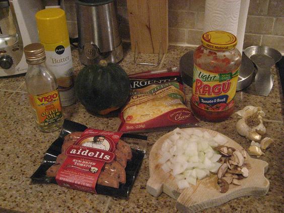 Sausage Acorn Squash Ingredients
