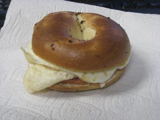 Onion Bagel Sandwich