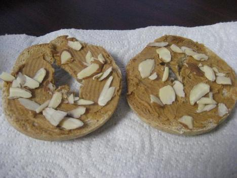 PB and Almond Bagel