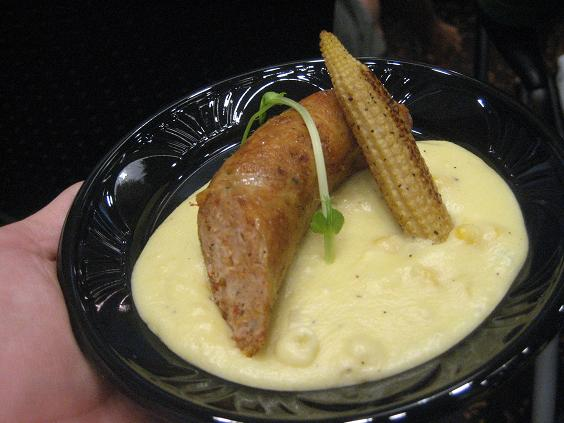 Chicken Sausage and Sweet Polenta
