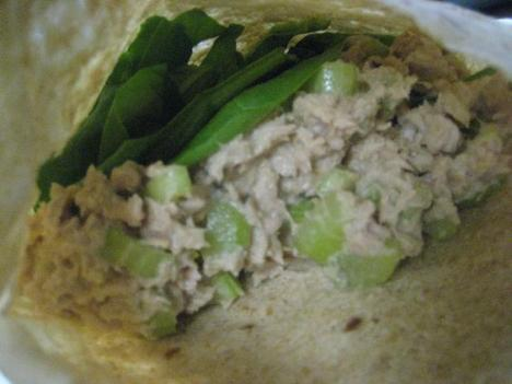 Tuna and Spinach Pita