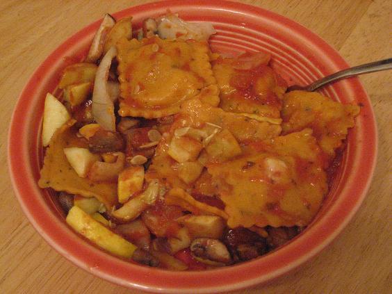 ravioli and veggies 2